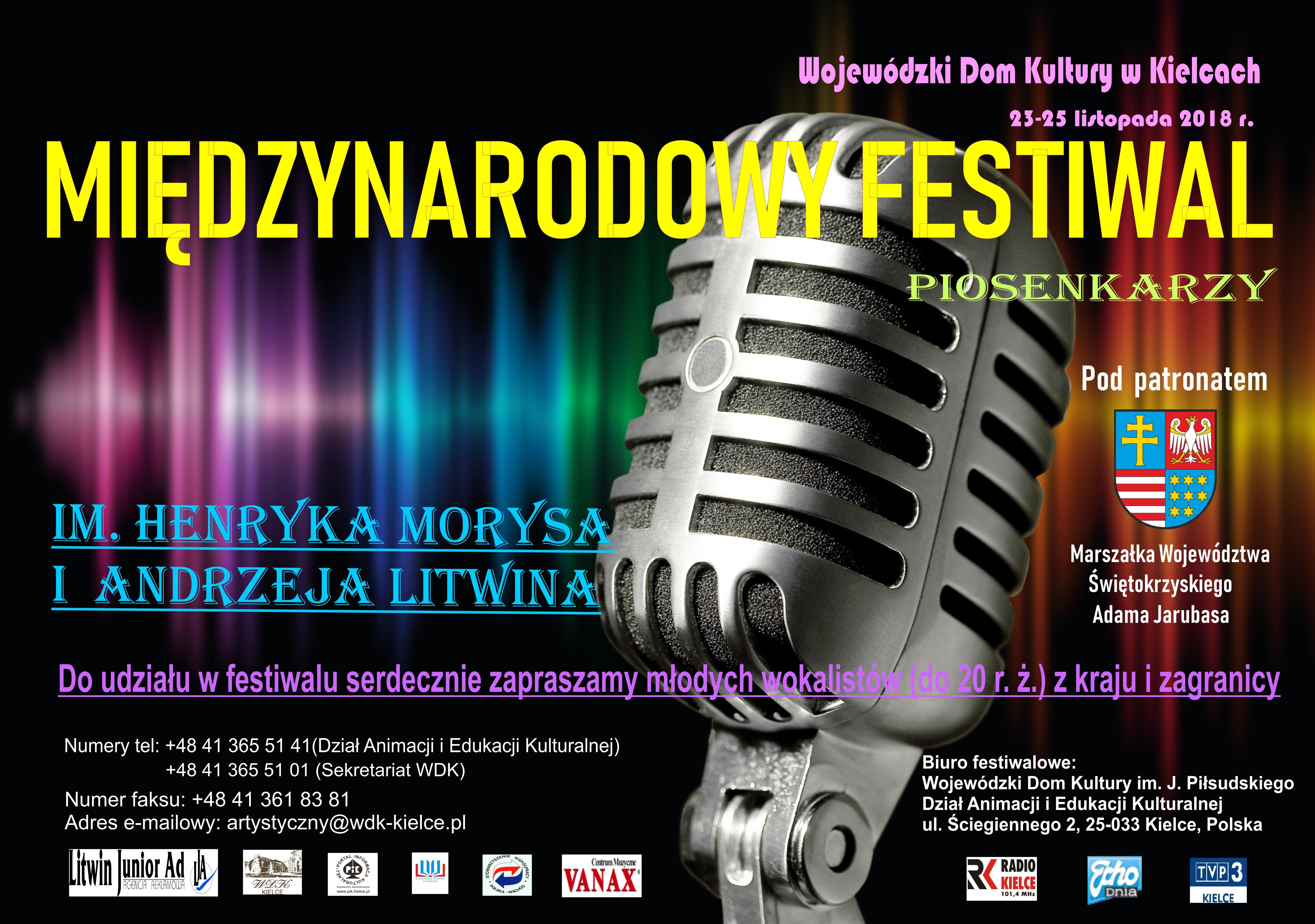 plakat Międzynarodowego Festiwalu Morysa