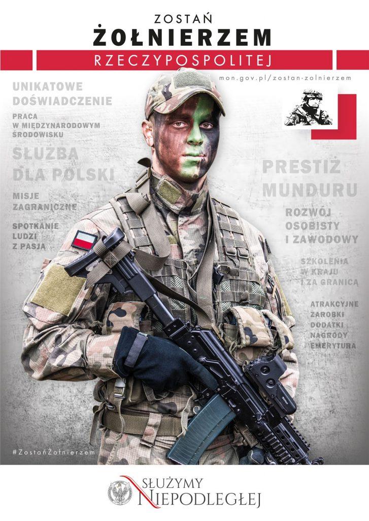 plakat zostań żolnierzem Rzeczypospolitej